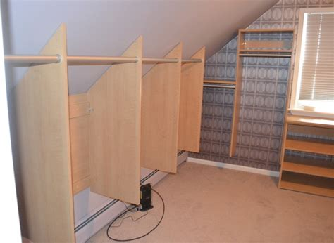 spaces  sloped ceilings traditional wardrobe