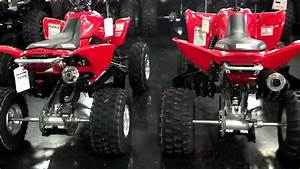 2014 Honda Trx400x Sport Atv Red  U0026 Black Beside Trx450r At Honda Of Chattanooga In Tn