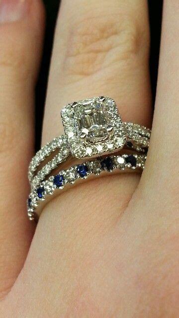 vera wang emerald cut halo setting split shank 0 95cttw engagement ring and pave diamond