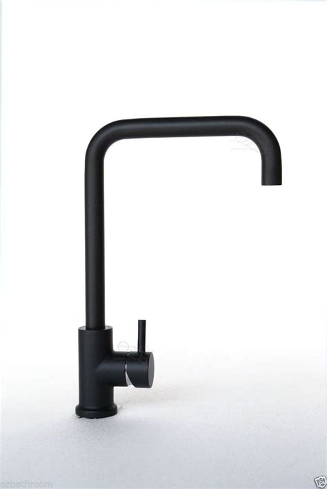 new round kitchen tap mixer for sinks black white brushed