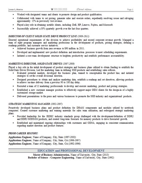 marketing operations resume exle