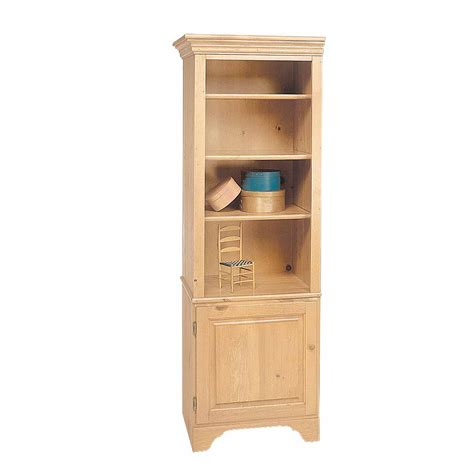 Wood Bookcase Kits by Bookcase Unfinished Pine Shaker Kit 66 5 Quot H