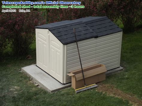 Rubbermaid Slide Lid Shed by Telescope Sky S Official Observatory Airplanes And Rockets