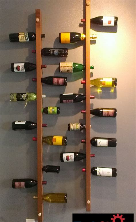 wall mount wine cool and simple wood wall mounted vertical wine