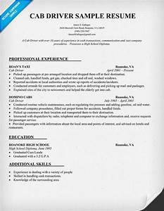 Cab Driver Resume Sample  Resumecompanion Com