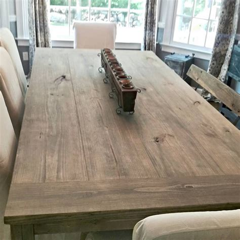 ft farmhouse table stain weathered grey seal matte