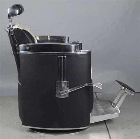 Koken Barber Chair President Model by 1950s Mad Era Koken President Barber Chair At 1stdibs