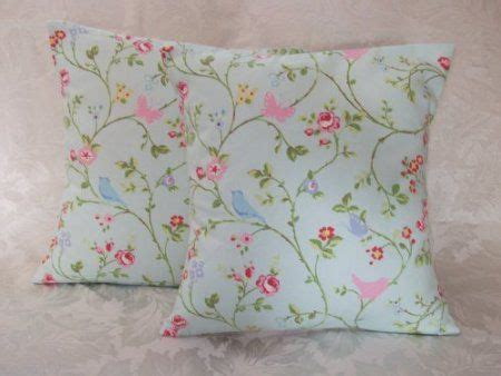shabby chic duck egg blue 2 x duck egg blue pink green shabby chic cushion covers 16 quot amazon co uk kitchen home for