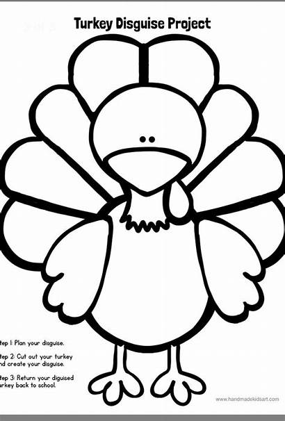 Disguise Turkey Template Project Blank Drawing Printable