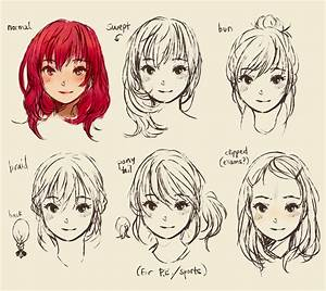 Pretty Hairstyles Drawing | Hairstyles Ideas