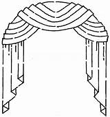 Window Arched Curtains Windows Treatments Drawing Festoon Curtain Drapes Blinds Shutters Styles Rods French Decor Valances sketch template