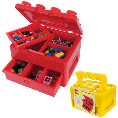 LEGO Brick Storage Carry Case With Fold Out Handle Toy Box
