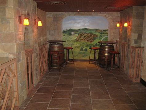 unused basement  stunning wine cellar building