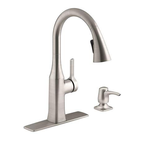 kitchen faucet kohler kohler rubicon single handle pull sprayer kitchen