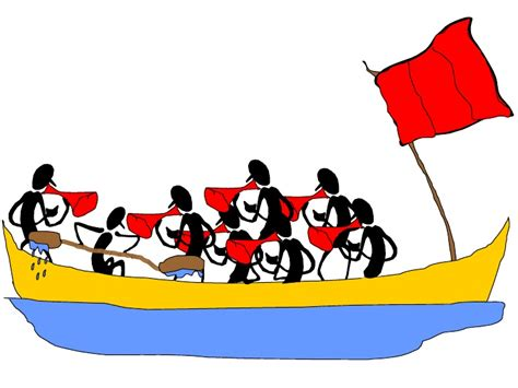 Management Boat Cartoon by The Management Rowing Race