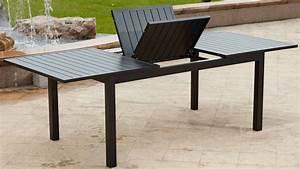 Table De Jardin Extensible Aluminium : table de jardin aluminium salon bas de jardin pas cher maisonjoffrois ~ Melissatoandfro.com Idées de Décoration