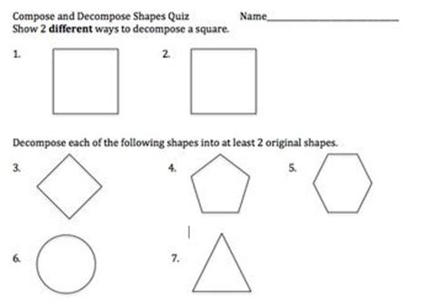 this is a quiz on composing and decomposing shapes it