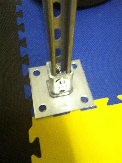 floor plate  unistrut upright unistrut squat  bench rack unistrutsuperstrut