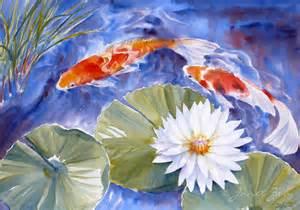 Janet Fish Artwork by Janet Zeh Original Art Watercolor And Oil Paintings Koi