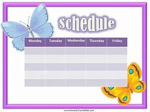 Kids Schedule Template Free Weekly Schedule Template