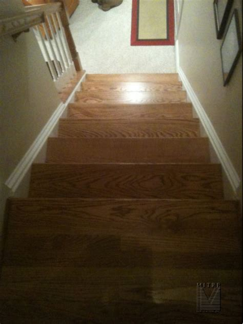 New Oak Stairs  Mitre Contracting, Inc