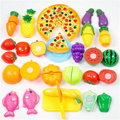 cuisine toys r us 24 pcs set plastic fruit vegetable kitchen cutting toys