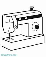 Machine Coloring Pages Sewing Weaving sketch template