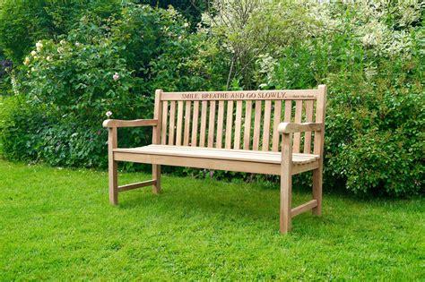 engraved garden benches engraved wooden garden bench makemesomethingspecial