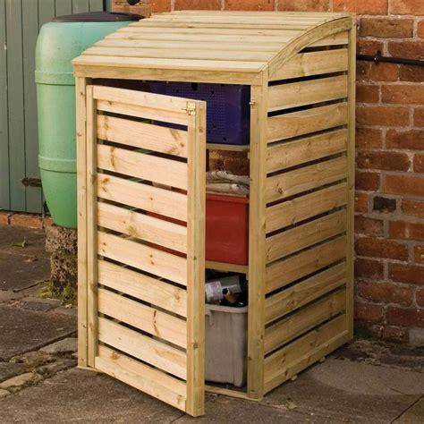 Wooden Garden Storage by Wooden Garden Recycling Box Storage Pressure Treated