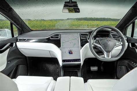 tesla inside tesla model x suv 2016 driving performance parkers