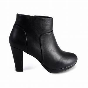 Bottine Noir A Talon : chaussure bottine talon femme pas cher cincinnati noir noir ~ Nature-et-papiers.com Idées de Décoration