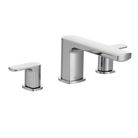 moen rizon 2 handle deck mount roman tub faucet trim kit