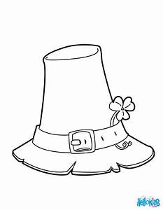 leprechaun hat coloring page - shamrock and hat coloring pages