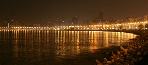 marine drive mumbai night view wallpaper  baltana