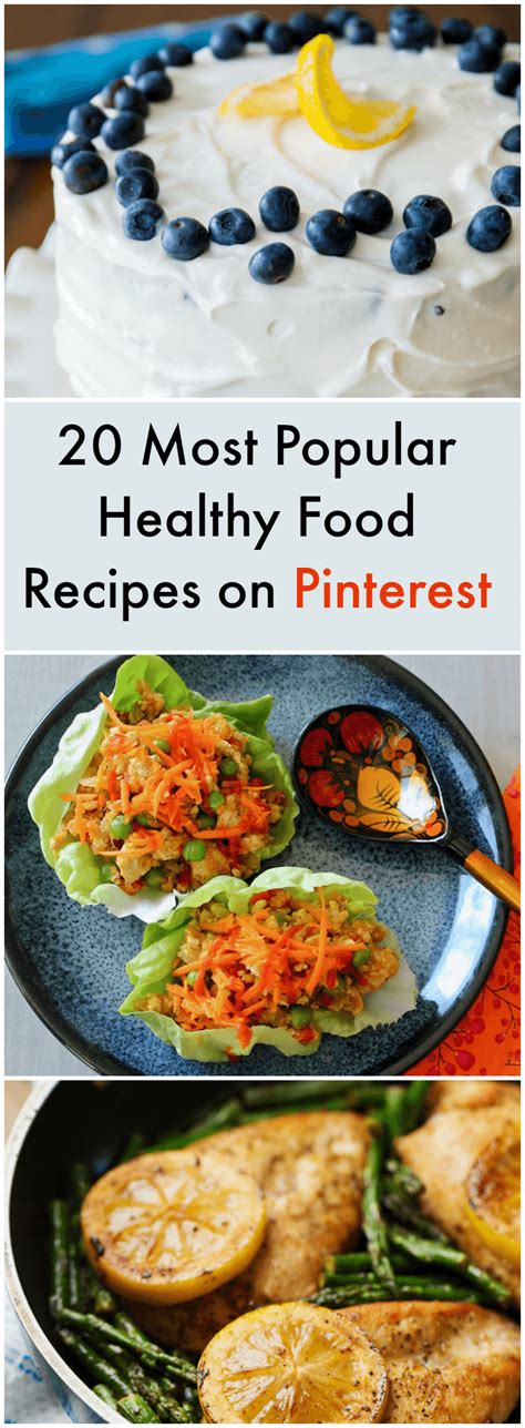 20 most popular healthy food recipes on pinterest
