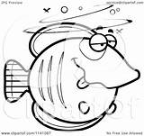 Drunk Cartoon Clipart Coloring Butterflyfish Vector Outlined Thoman Cory Template sketch template