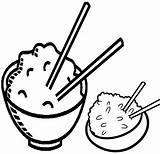 Coloring Rice Popular sketch template