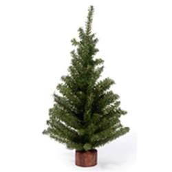 18 inch green mini artificial christmas tree wood base miniature craft new ebay