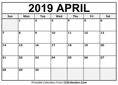 april calendar blank easily printable calendars