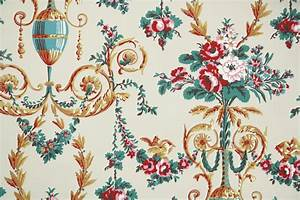 1950s vintage wallpaper by the yard floral wallpaper With markise balkon mit vintage tapete floral