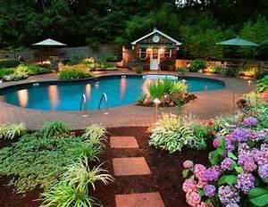 conseils pour amenager un jardin avec piscine With amenager un jardin paysager 1 amenagement de jardin potager fleurs arbres pelouses