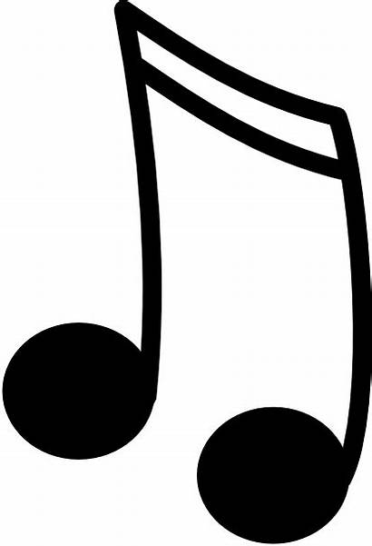 Notes Single Clip Note Clipart Outline Song