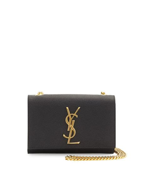 saint laurent kate monogram leather crossbody bag black