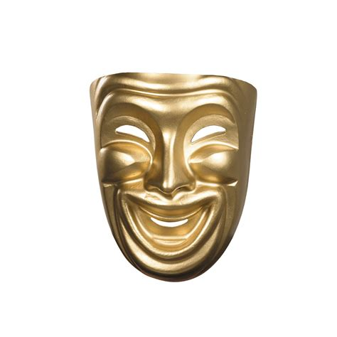 cheap gold comedy mask at go4costumes com