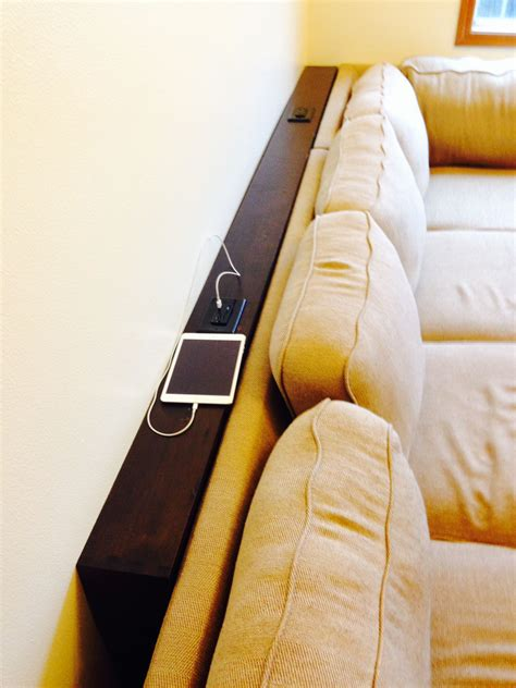 sofa table with outlet behind the couch table added some usb outlet receptacles