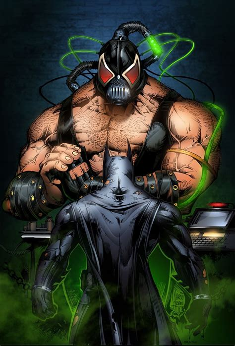 Batman And Bane By Marcio Abreu Comics Pinterest