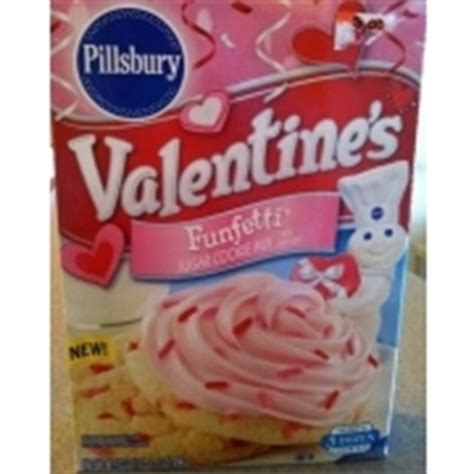 The cookies are perfect for a sweet frosting. Pillsbury Cookie Mix, Valentine's Funfetti Sugar W/Candy Bits: Calories, Nutrition Analysis ...