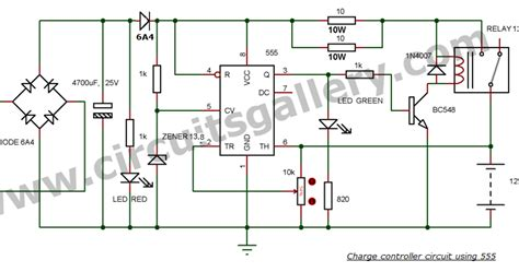 12v battery charger circuit with auto cut