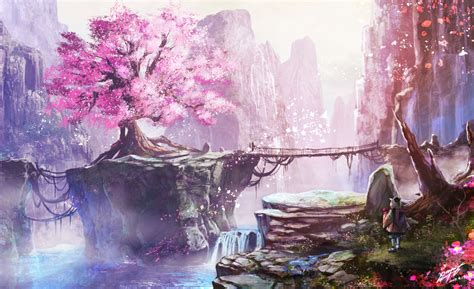 Tree Anime Wallpaper - original hd wallpaper background image 1962x1200 id