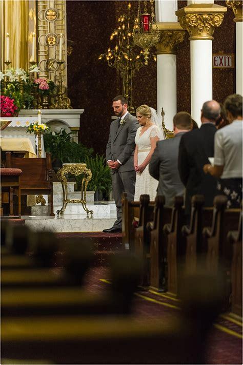 ali justin basilica   sacred heart wedding